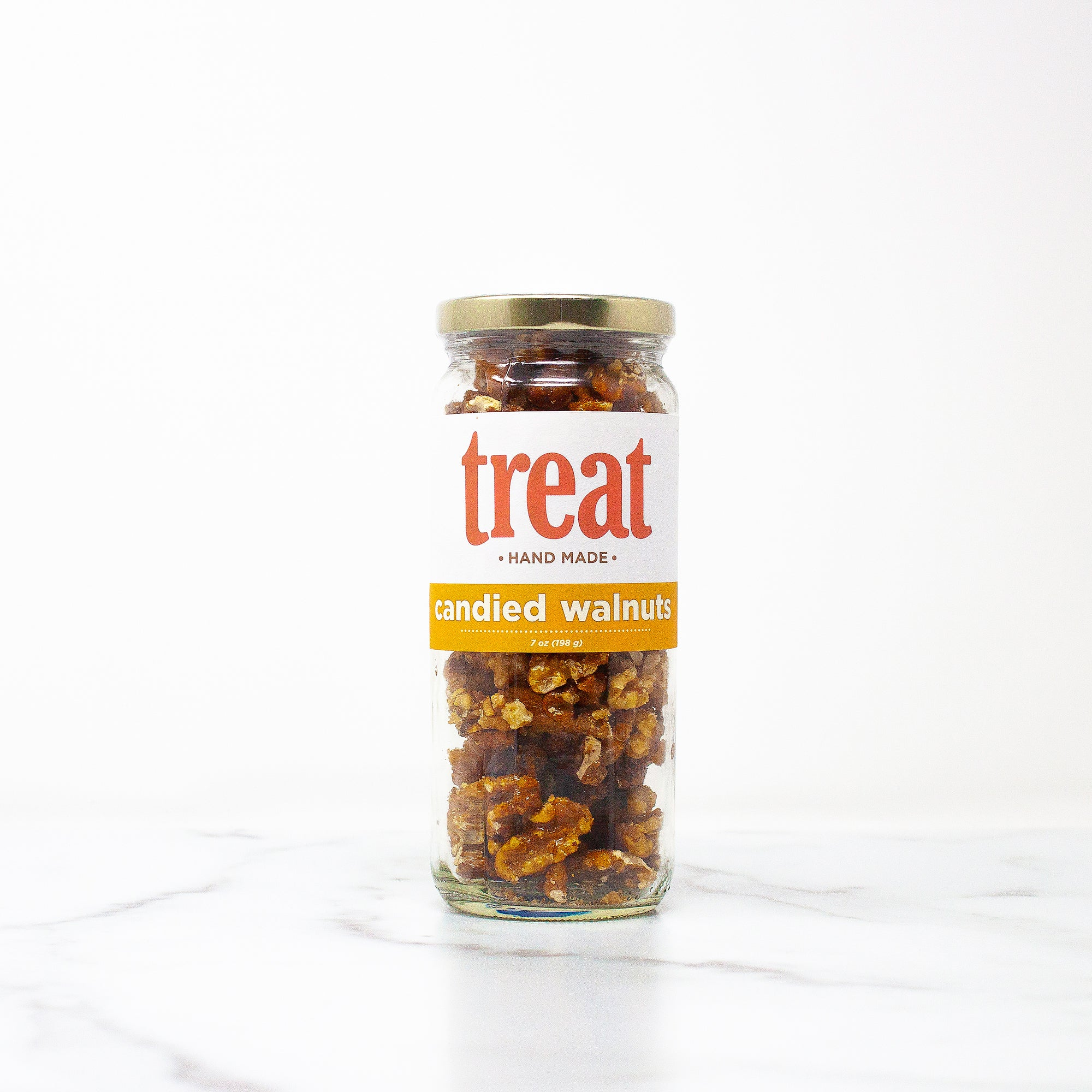7 oz Deluxe Jar of Candied Walnuts from Treat