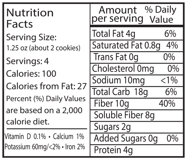 Alyssas Healthy Vegan Chocobites Nutrition Info