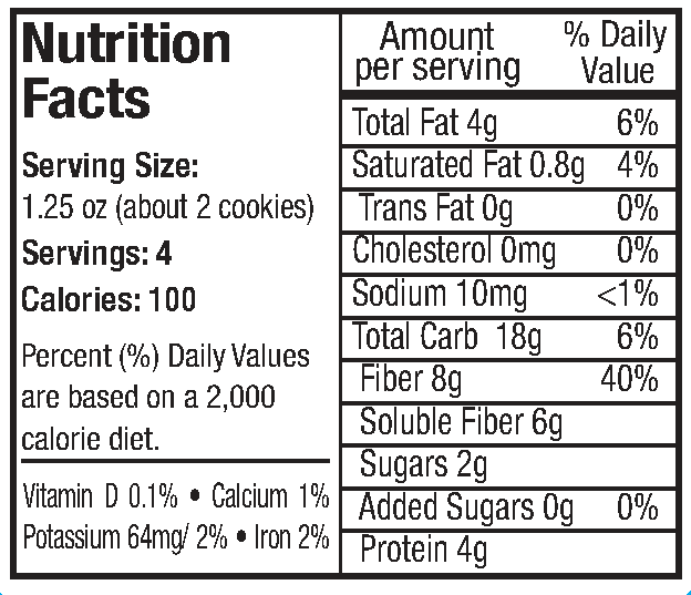 Alyssas Healthy Chocobites Nutrition Info