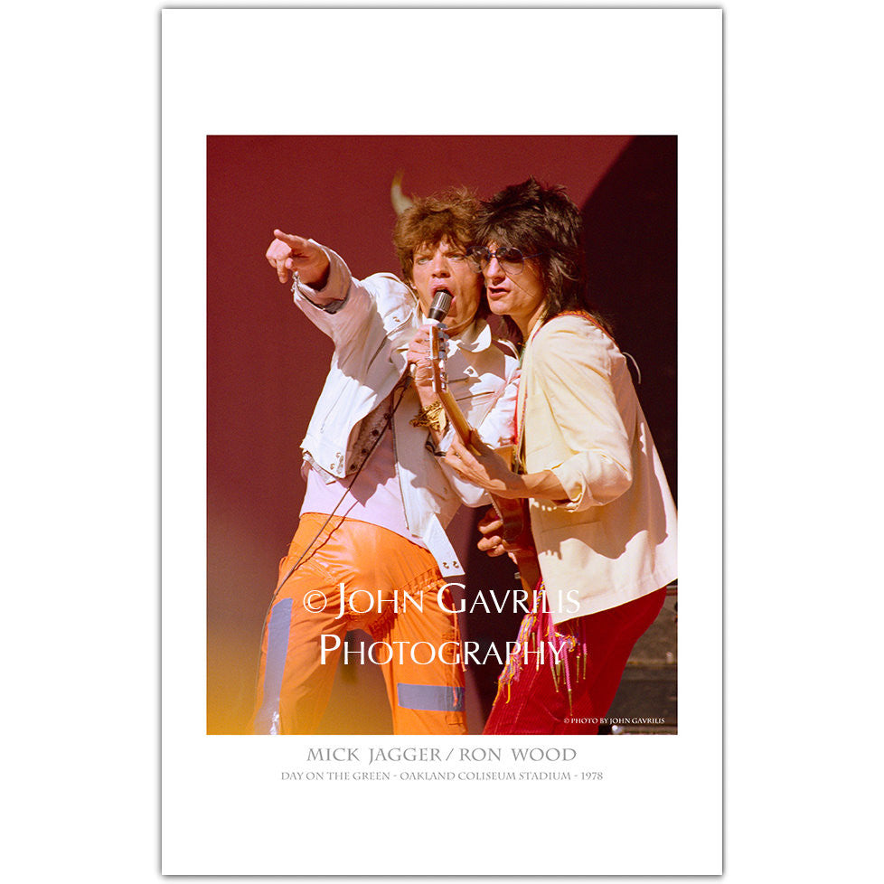 Mick Jagger & Ronnie Wood - Classic Rock Photographs
