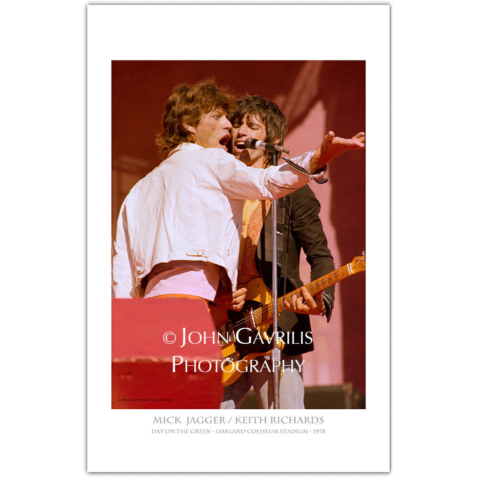 Mick Jagger & Keith Richards - Classic Rock Photographs
