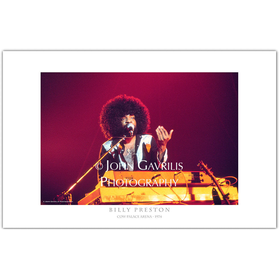 Billy Preston - Classic Rock Photographs