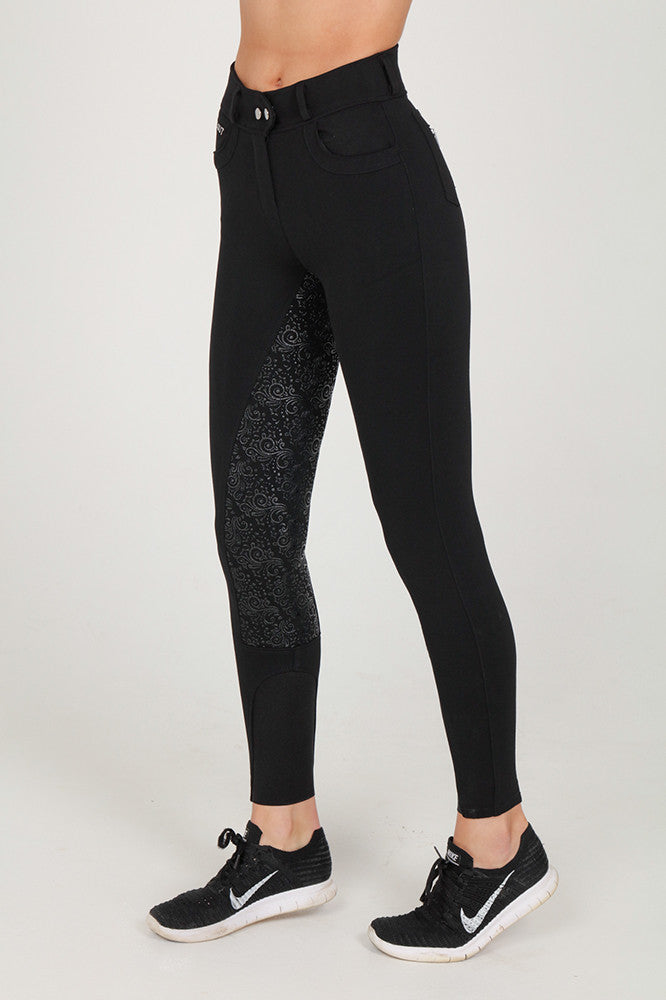 Black full seat breeches