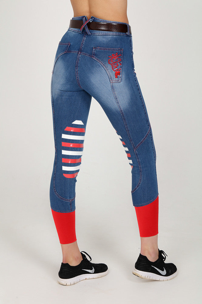 Girls Denim Knee breeches