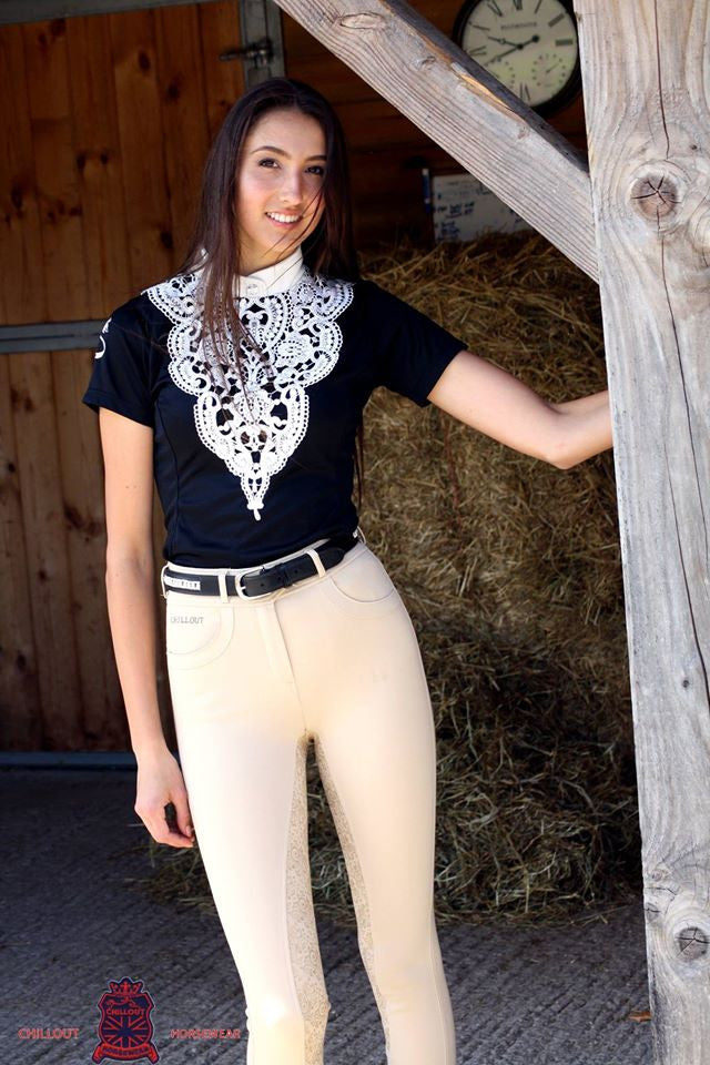 BEIGE FULL SEAT SILICONE BREECHES