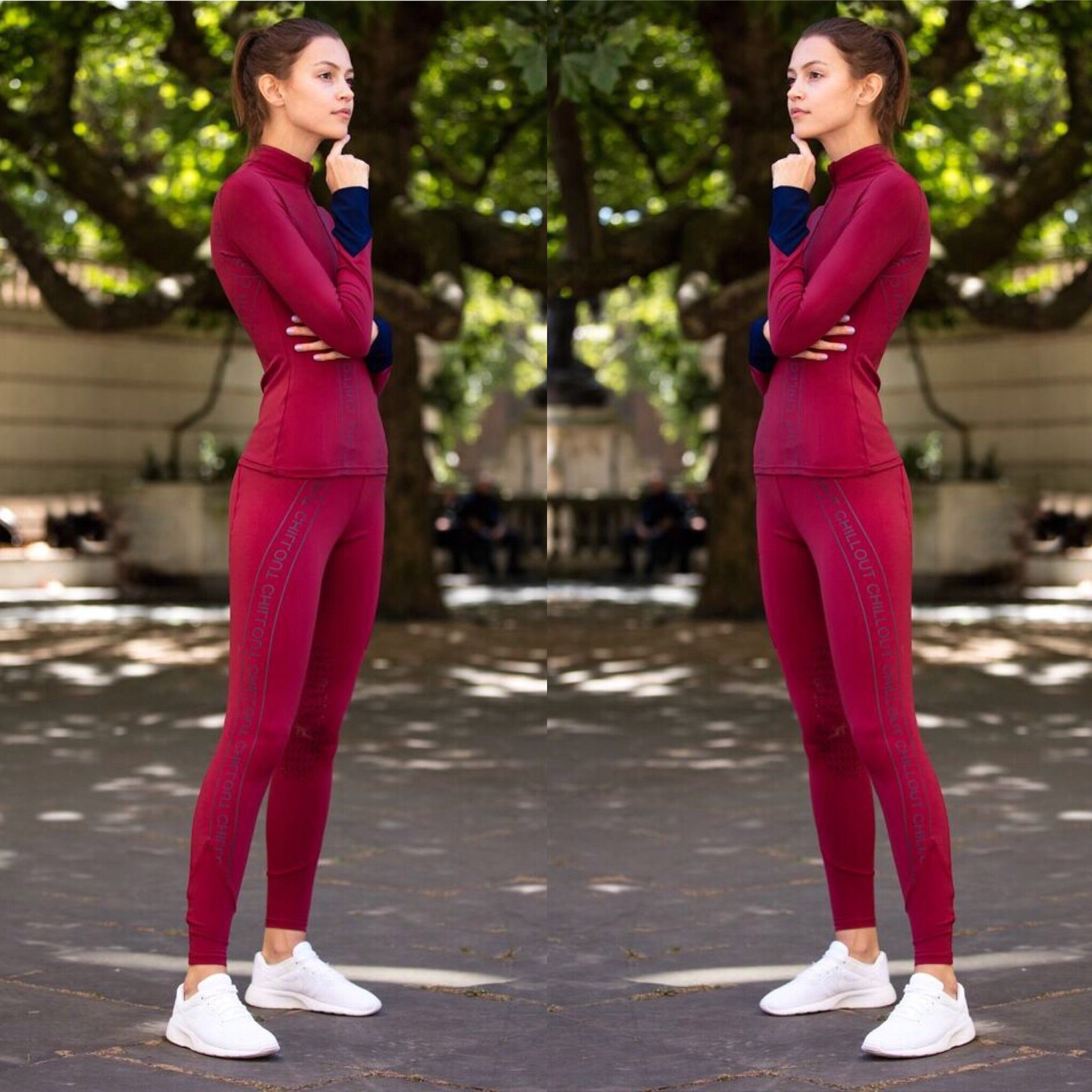 Limited Edition Leggings Burgundy