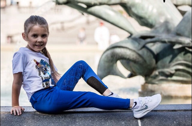 Girls Royal Blue silicone full seat breeches