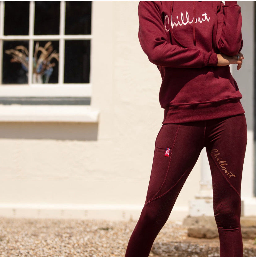 Signature Burgundy/ Rose gold leggings