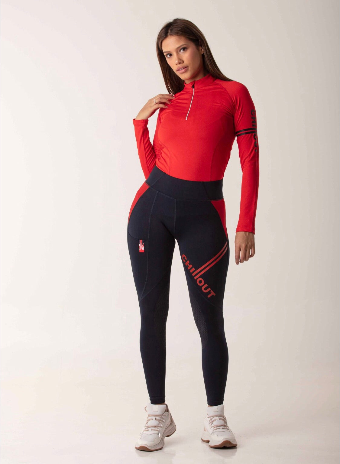 Extreme Silicone Tights Navy/Red