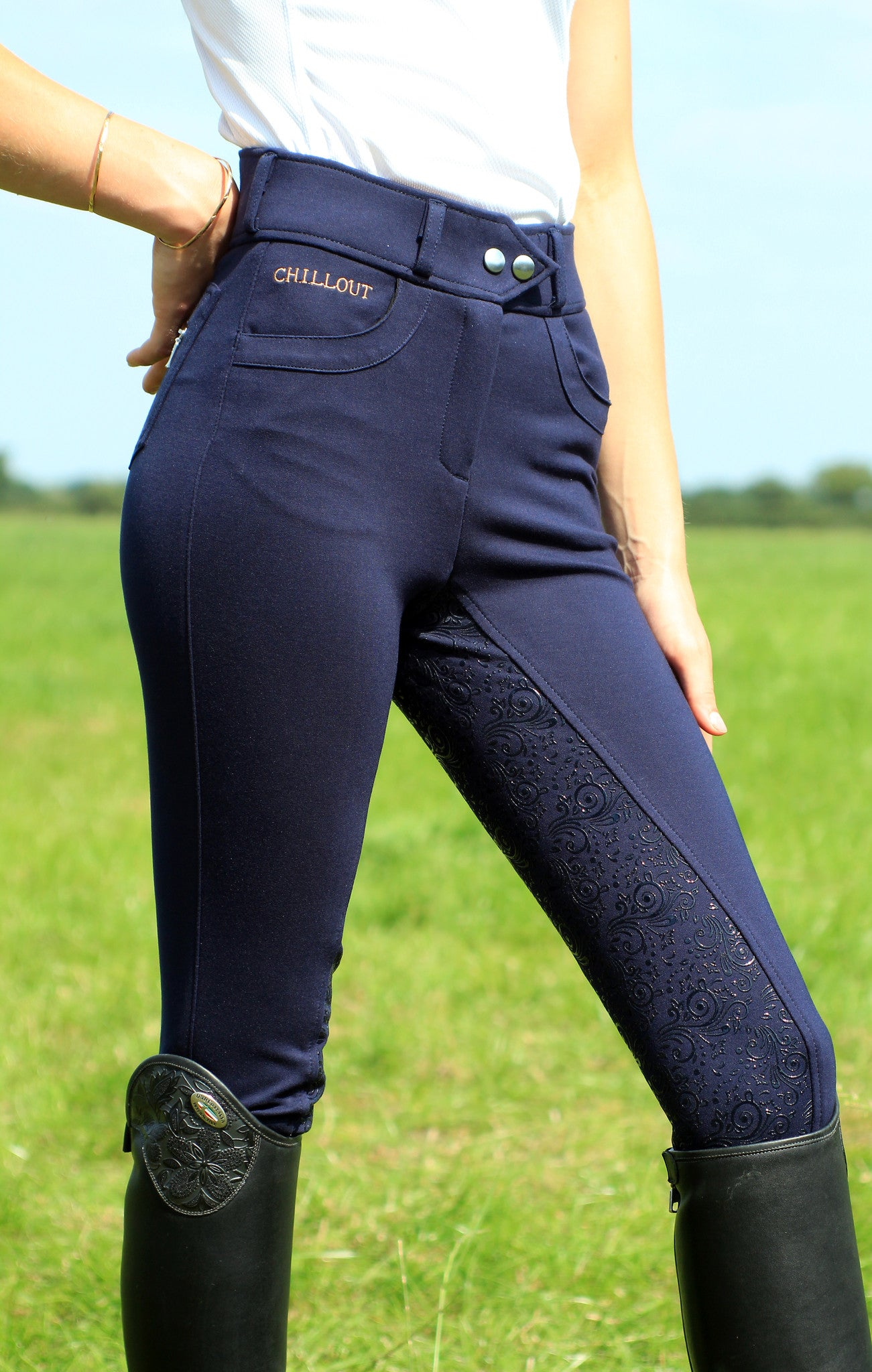 Full seat breeches navy