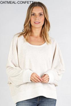 FRENCH TERRY OVERSIZED SWEATSHIRT