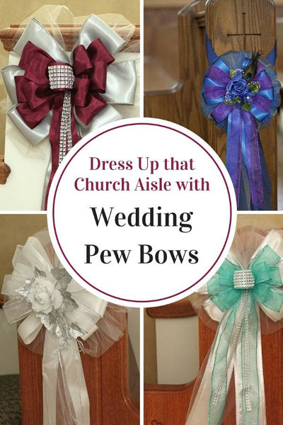 Dress Up That Aisle With Wedding Pew Bows