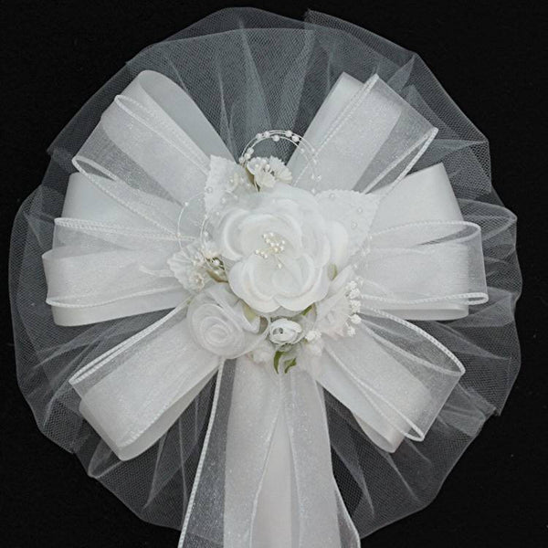 White Wedding Bows