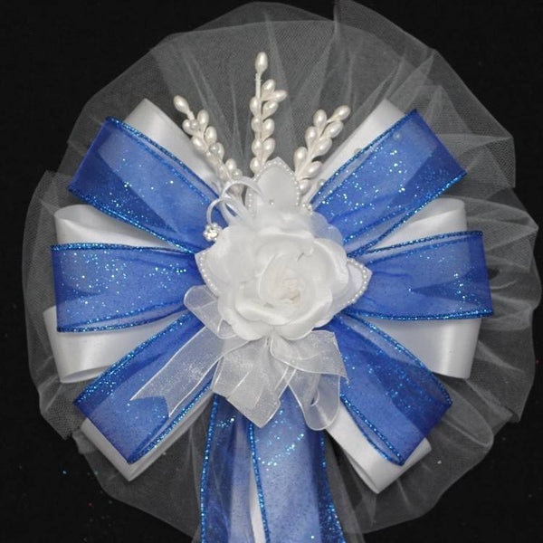 Royal Blue Wedding Bows