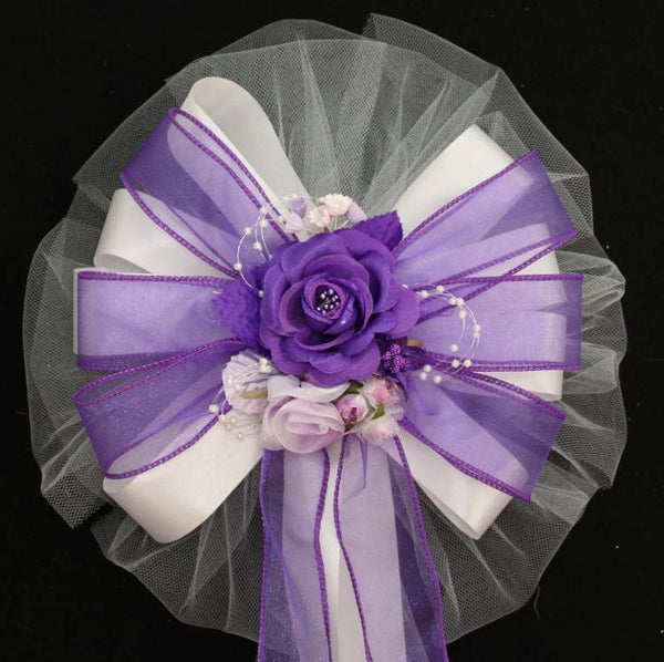 Purple Wedding Bows