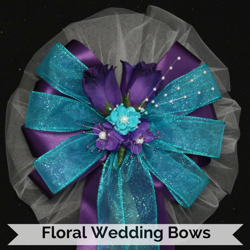 Floral Wedding Bows
