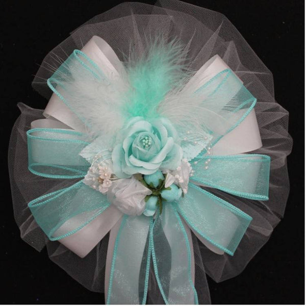 Aqua Wedding Bows