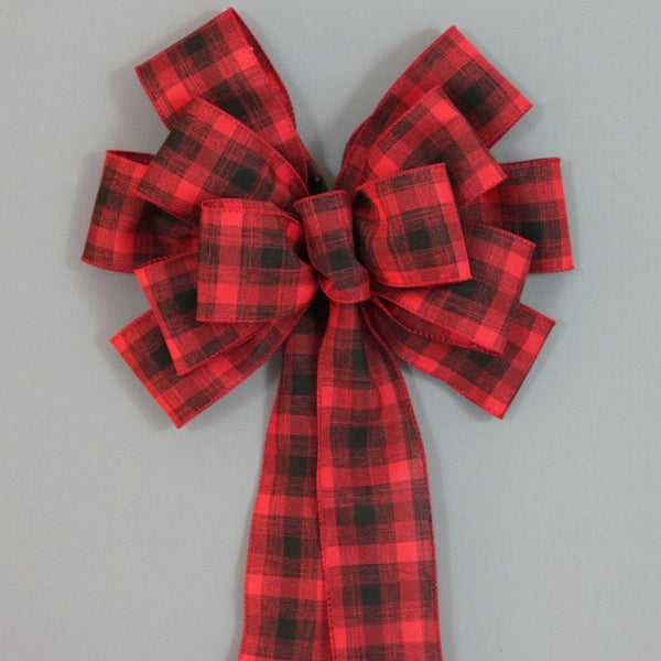 Plaid Christmas Bows