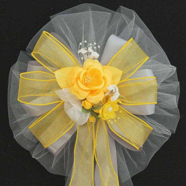 Yellow Wedding Bows