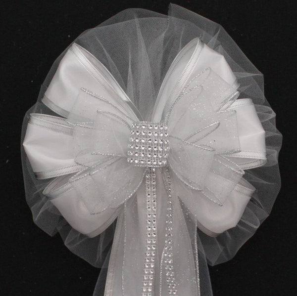 Silver Wedding Bows