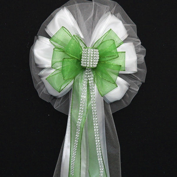Green Wedding Bows