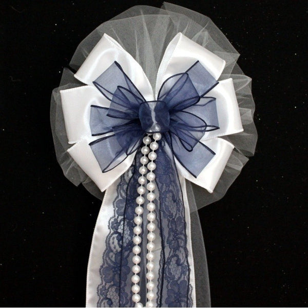 Navy Blue Wedding Bows