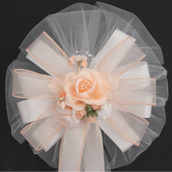 Peach Wedding Bows