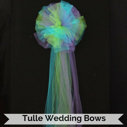 Tulle Wedding Bows