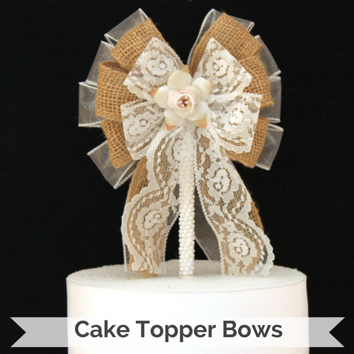 Wedding Bow Cake Toppers