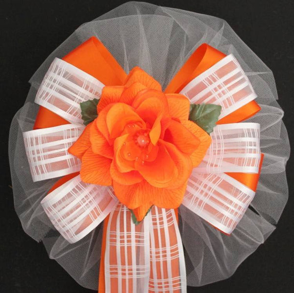 Orange Wedding Bows