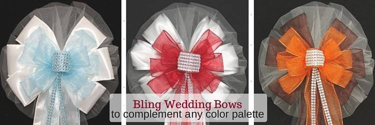 Bling Wedding Bows for any color palette