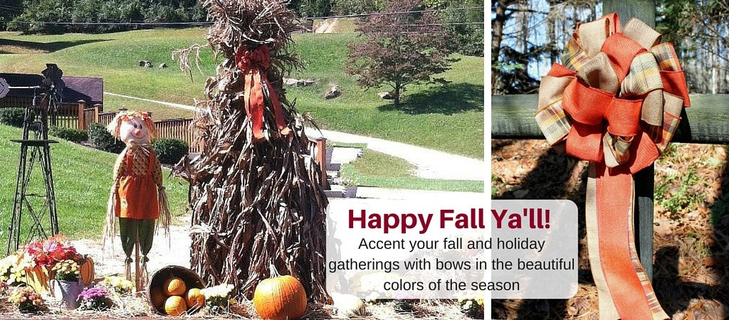 Fall Decorating  – Add a fall bow to your existing seasonal decor