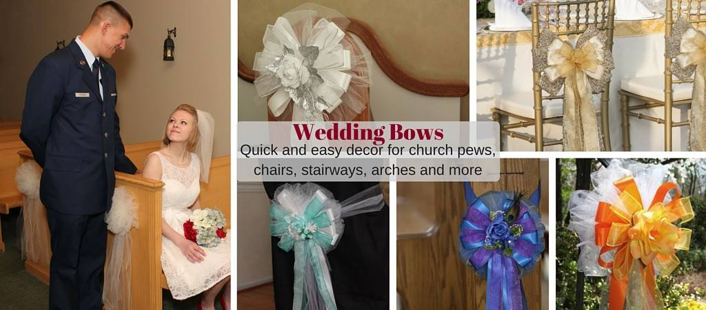 Wedding Pew Bows for church and chair decorations