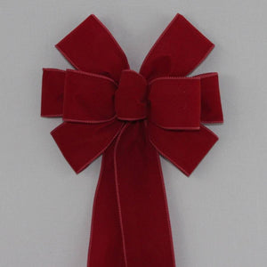 Burgundy Velvet Wire Edge Christmas Bow