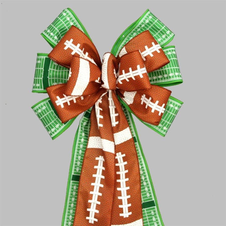 Football Pigskin Field Yardline Party Bow - Package Perfect Bows - 1
