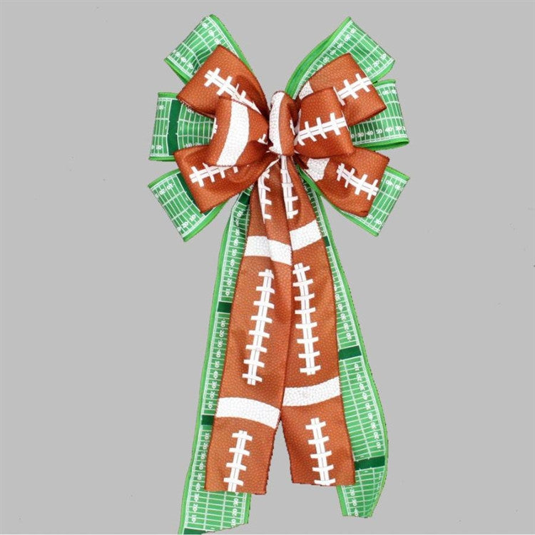 Football Pigskin Field Yardline Party Bow - Package Perfect Bows - 2