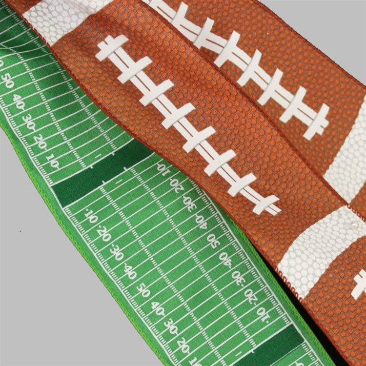 Football Pigskin Field Yardline Party Bow - Package Perfect Bows - 3