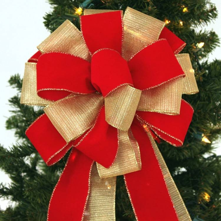 Red Velvet Outdoor Christmas Ribbon
