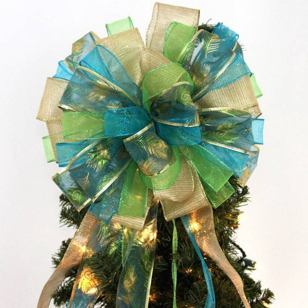 Christmas Tree Topper Bows - Package Perfect Bows