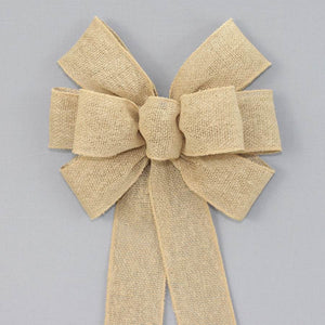 Natural Burlap Rustic Wreath Bow