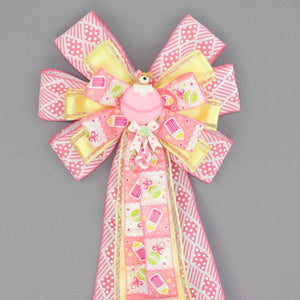 Pink Bear Girl Baby Shower Bow - Package Perfect Bows