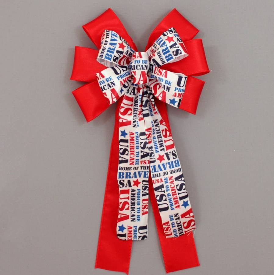 Proud to be an American Patriotic Bow - Package Perfect Bows - 1