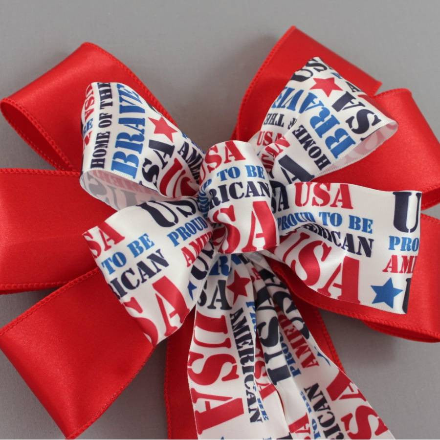 Proud to be an American Patriotic Bow - Package Perfect Bows - 3