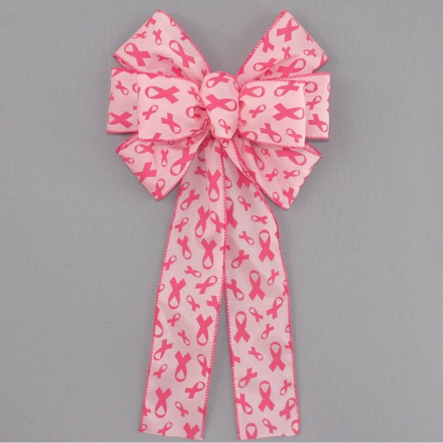Breast Cancer Awareness Wreath Bow