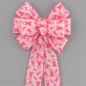 Breast Cancer Awareness Wreath Bow - Package Perfect Bows