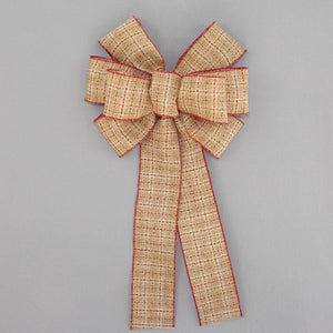 Saddle Stitch Rustic Wreath Bow - Package Perfect Bows