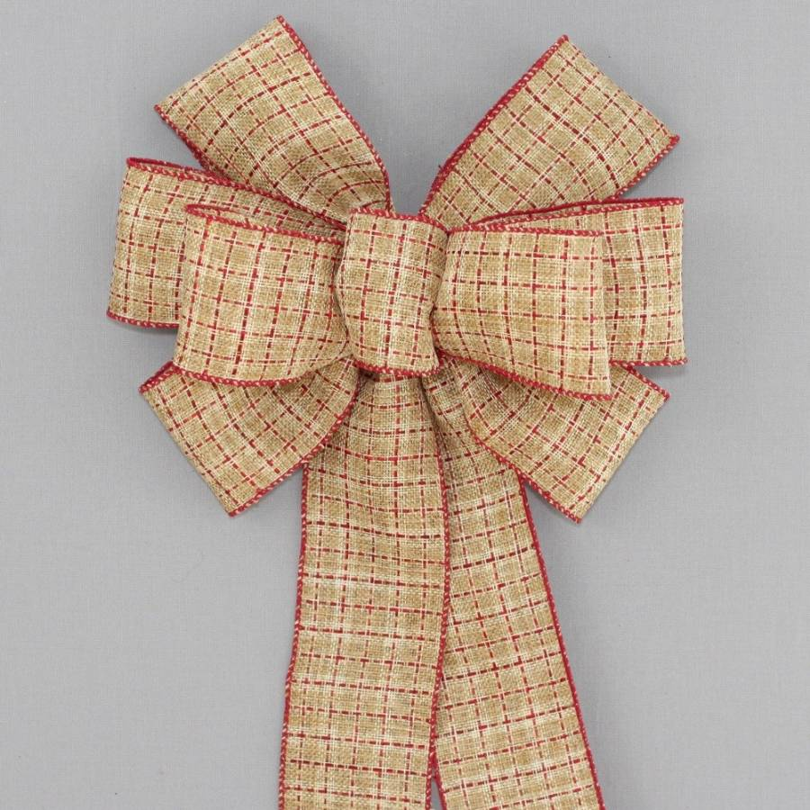 Saddle Stitch Rustic Wreath Bow