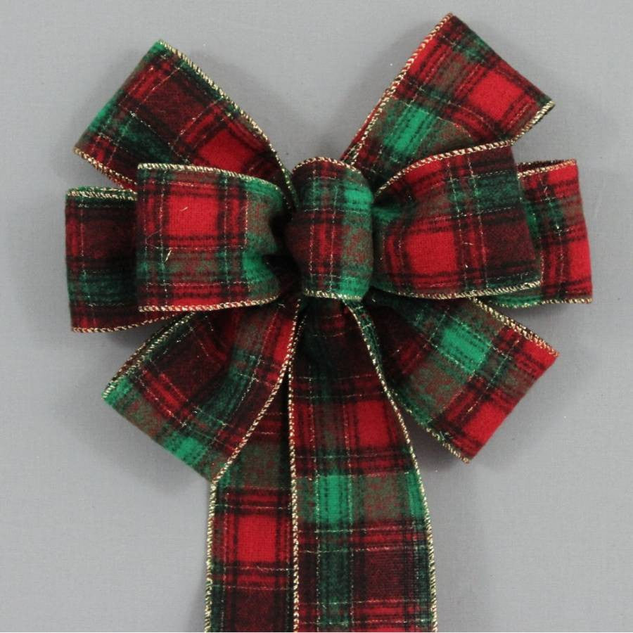 country flannel plaid christmas bow package perfect bows - Christmas Plaid