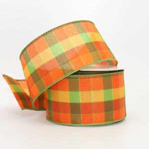 "2.5"" Vibrant Berkshire Plaid Wire Edge Ribbon (10 Yards) - Package Perfect Bows"