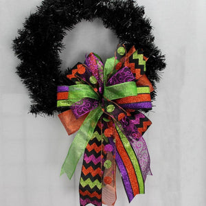 Sparkle Funky Halloween Wreath Bow - Package Perfect Bows